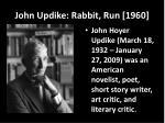 john updike rabbit run 1960