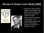 norman o brown love s body 1966
