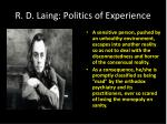 r d laing politics of experience