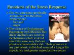 emotions of the stress response