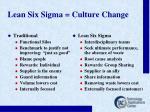 lean six sigma culture change
