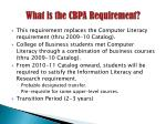 what is the cbpa requirement