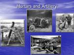mortars and artillery