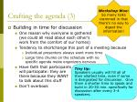 crafting the agenda 3