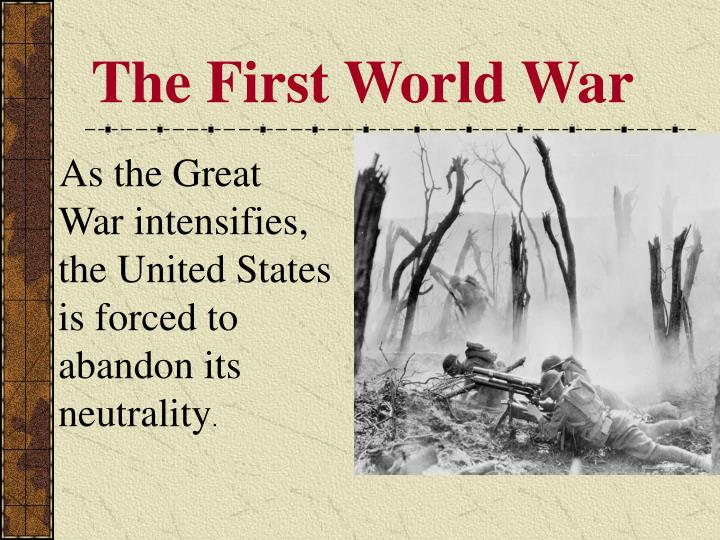the first world war n.