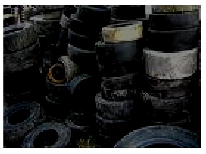 recycling rubber n.