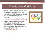 framing the adap issue1