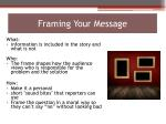 framing your message