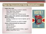 tips for successful voter mobilization