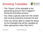 activating trackables