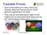 trackable proxies