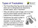 types of trackables