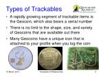 types of trackables1