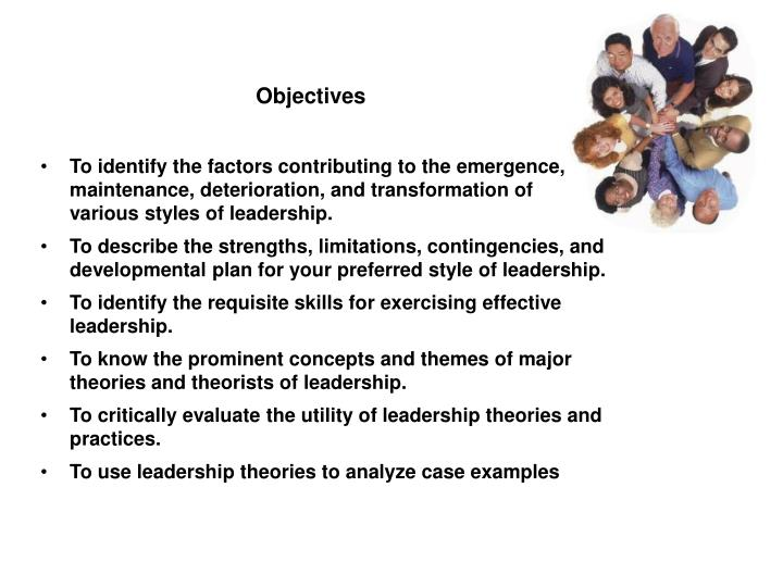 "critically evaluate the trait theory of leadership Evidence showing consistent associations of specific traits with leader emergence and leadership effectiveness the purpose of this exploratory research leadership theories behaviours leaders exhibited in an effort to assess what leaders do to be effective this focus on a leader""s action was."