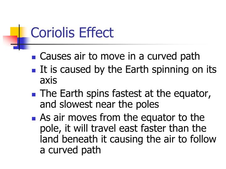 a study on the coriolis effect What is the coriolis effect - duration: 4:07 the science asylum 170,758 views coriolis force - duration: 6:10 eric snodgrass 653,856 views.