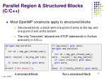 parallel region structured blocks c c