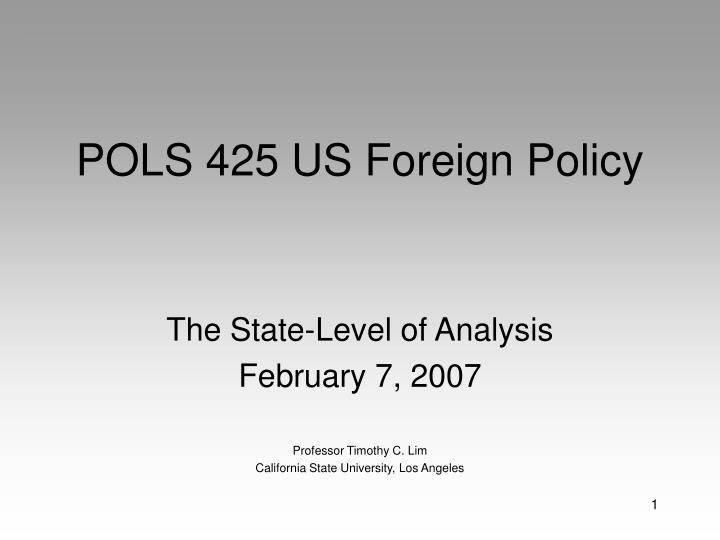 pols 425 us foreign policy n.