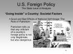 u s foreign policy the state level of analysis12