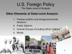 u s foreign policy the state level of analysis29