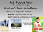 u s foreign policy the state level of analysis6