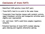conclusions of trans nats