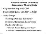 national defense university spacepower theory study