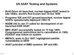 us asat testing and systems