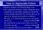 how to appreciate fiction