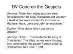 dv code on the gospels