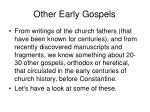 other early gospels