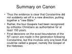 summary on canon