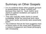 summary on other gospels
