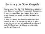 summary on other gospels1