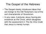 the gospel of the hebrews3