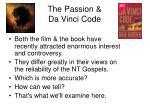 the passion da vinci code