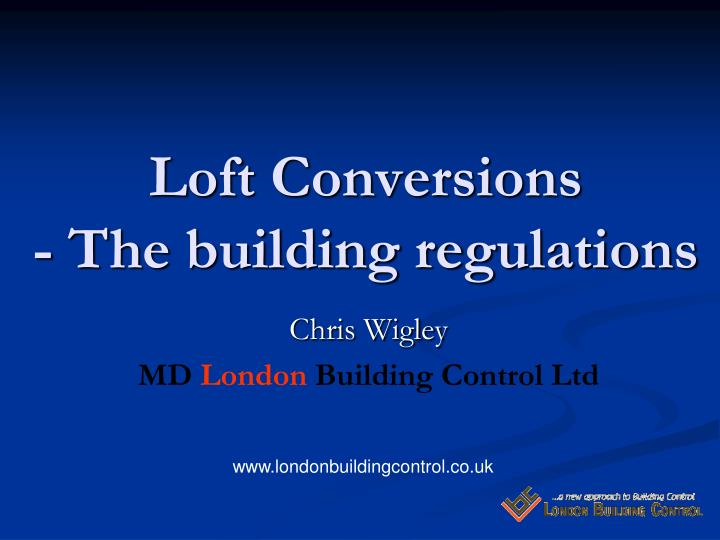 loft conversions the building regulations n.