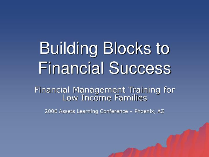 building blocks to financial success n.
