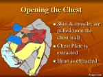 opening the chest