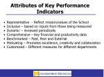 attributes of key performance indicators