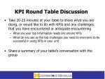 kpi round table discussion