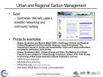 urban and regional carbon management1