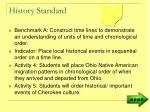 history standard1