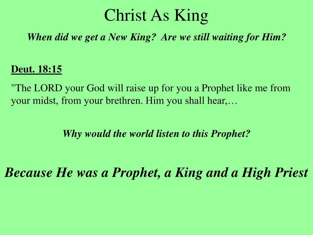 Christ As King