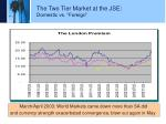 the two tier market at the jse domestic vs foreign