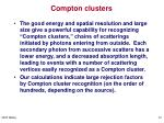 compton clusters
