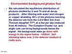 environment background photon flux