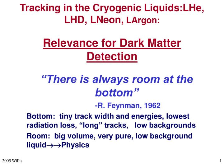 tracking in the cryogenic liquids lhe lhd lneon largon relevance for dark matter detection n.
