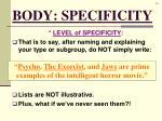 body specificity3