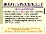 body specificity4
