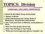 topics division